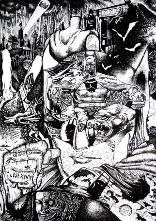 Batman: Black and White - A3 Poster Print