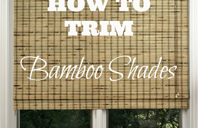 Learn how to easily trim bamboo shades at home to custom fit your windows and save a bundle of cash!