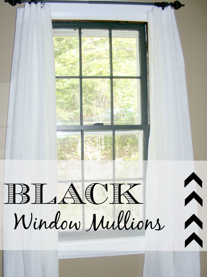 Black Window Mullions - After