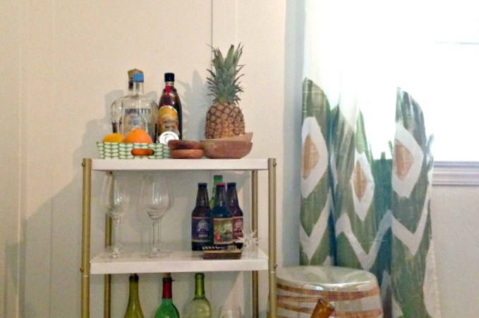 DIY Upcycled Bar Cart