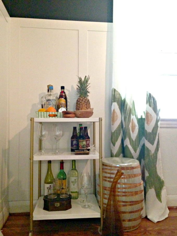 DIY Rolling Bar Cart 4
