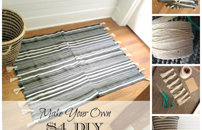 $4 DIY Rug With Tassels