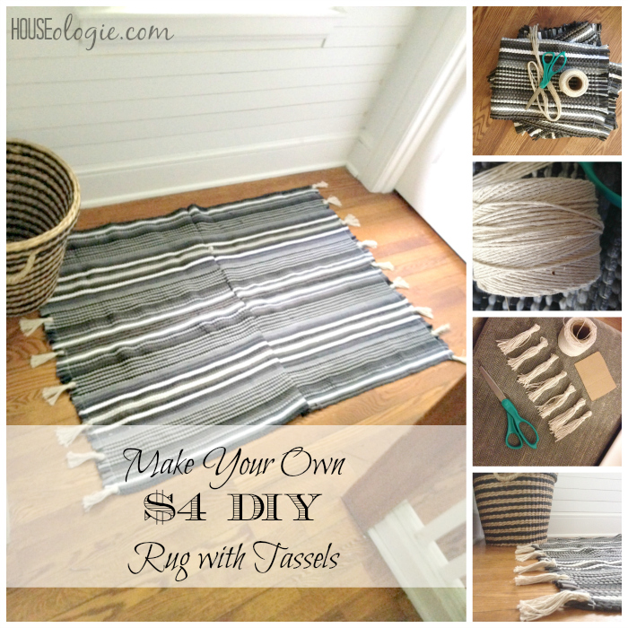 DIY Rug With Tassels Collage