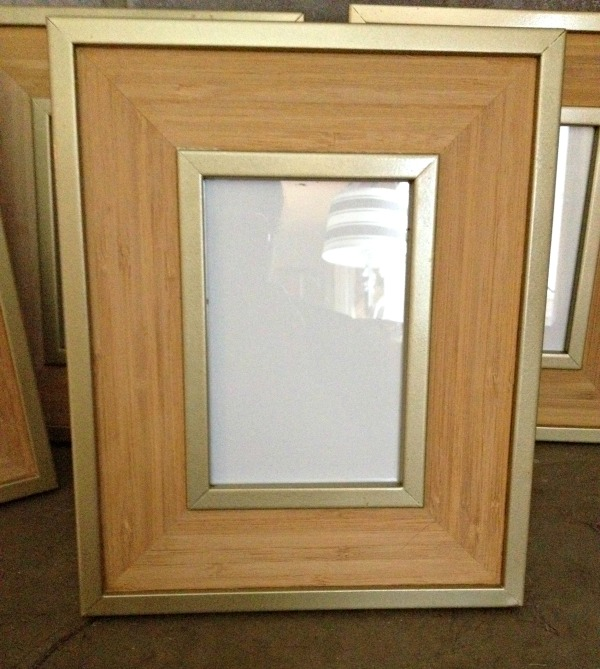 Gold Picture Frame Makeover Rustoleum