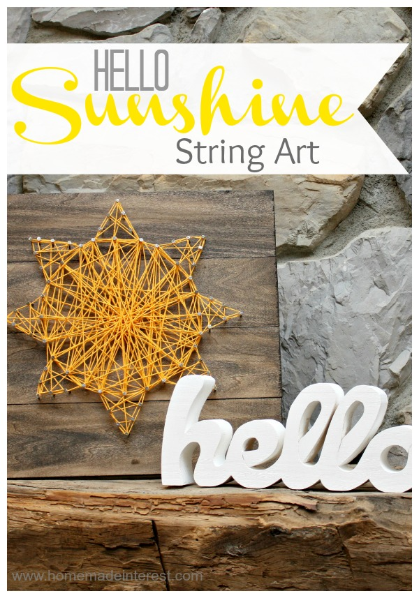 Hello Sunshine Sting Art