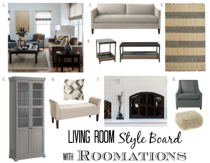 Living Room Style Board with Roomations