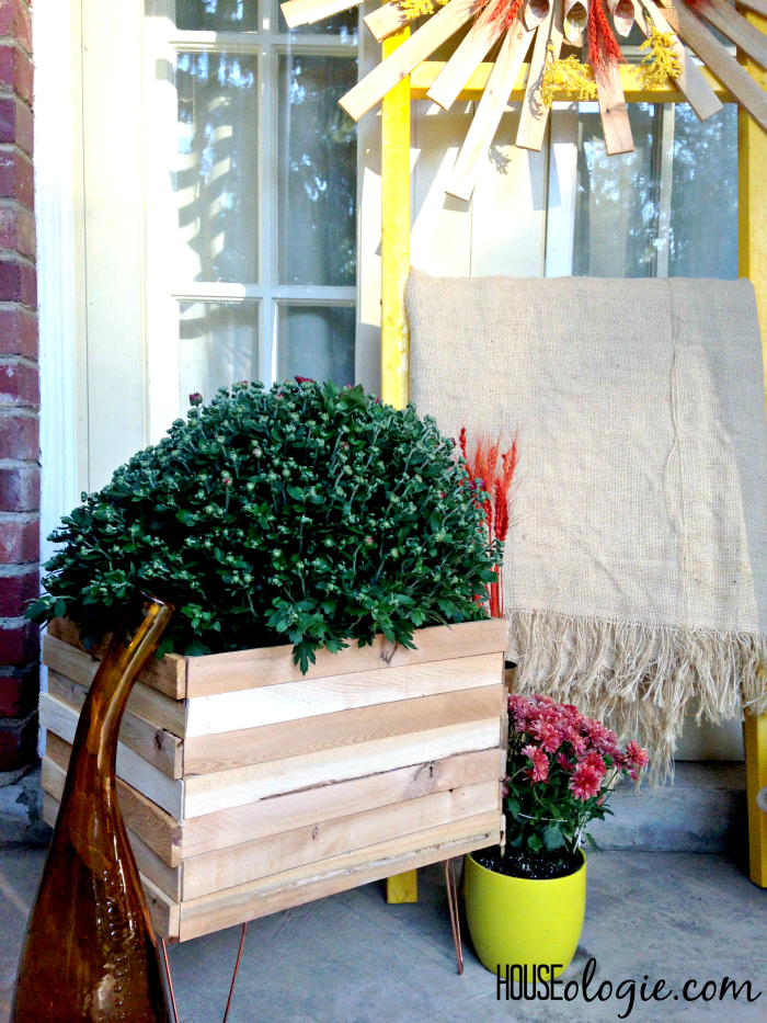 Wood and Copper Planter 6
