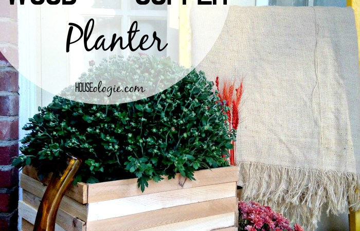 DIY Copper and Wood Planter