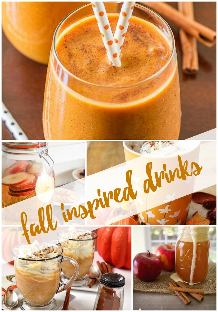 Drinks inspired by everyone's favorite season, Fall! Fall drinks for every get together this Autumn.
