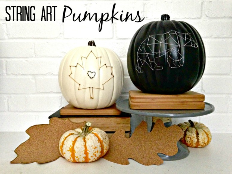 Easy String Art Pumpkins