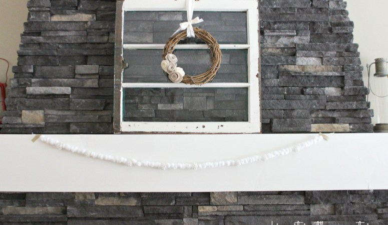Snowy Christmas Garland - making it in the mountains