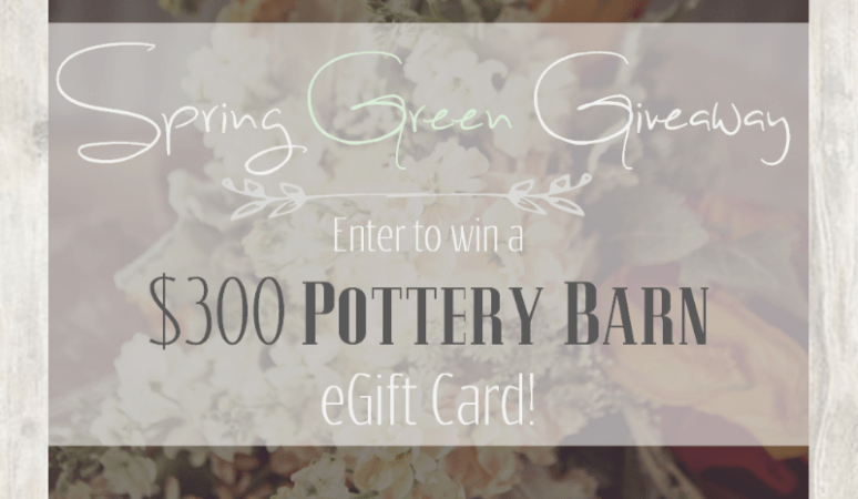 Spring Green Giveaway for Pottery Barn