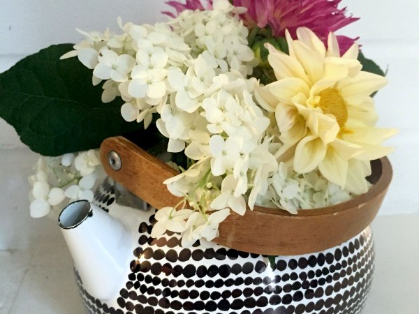 Black + White Teapot Planter