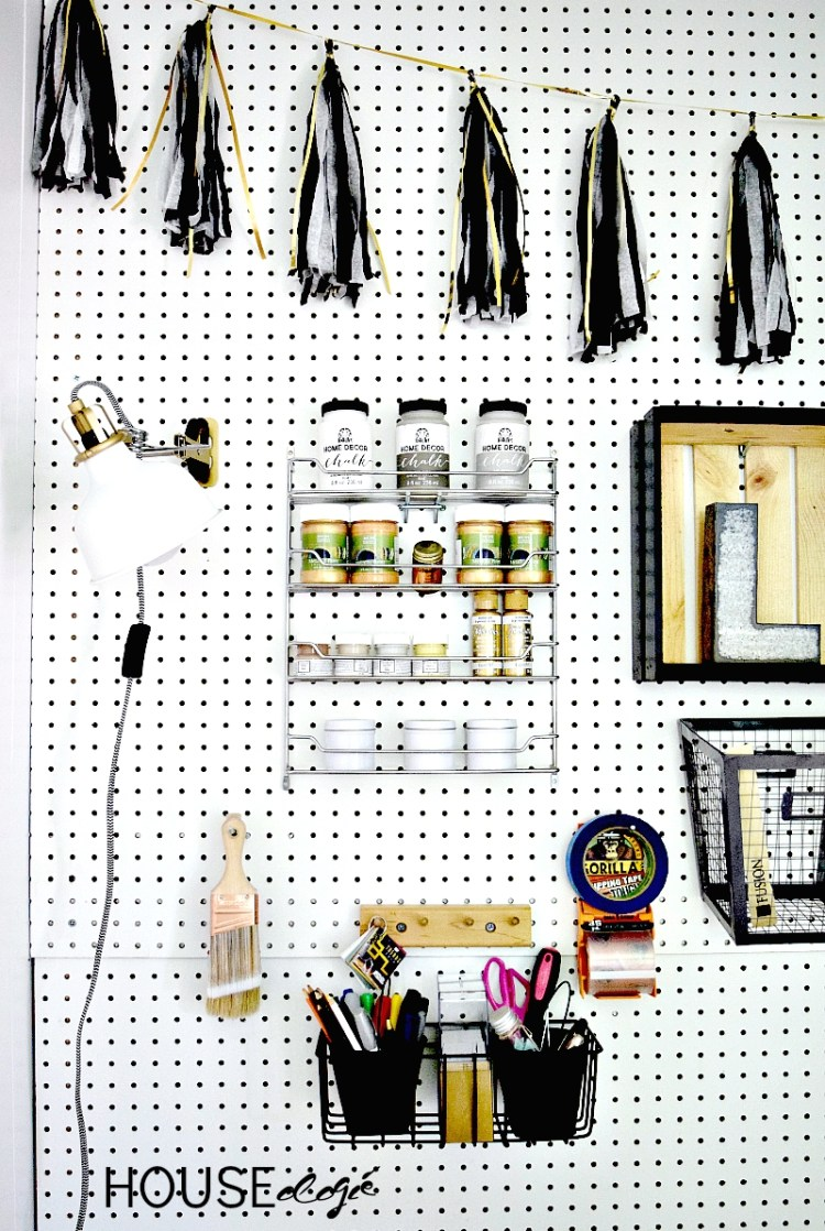 Craft Room Pegboard Organization 3