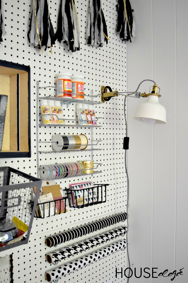 Craft Room Pegboard Organization 5