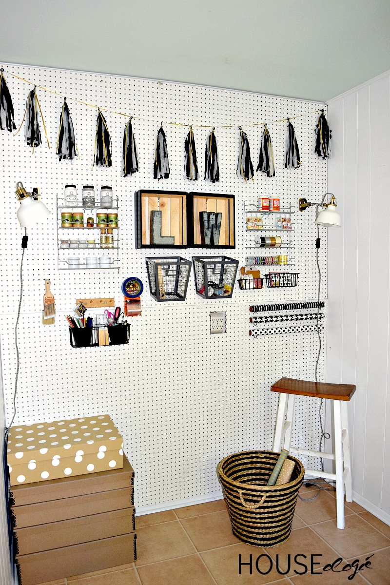 Craft Room Pegboard Organization Houseologie