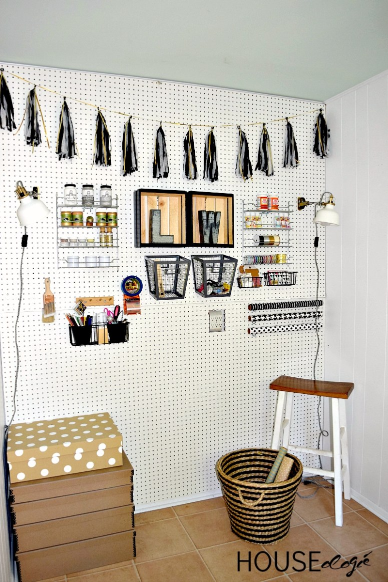 Craft Room Pegboard Organization