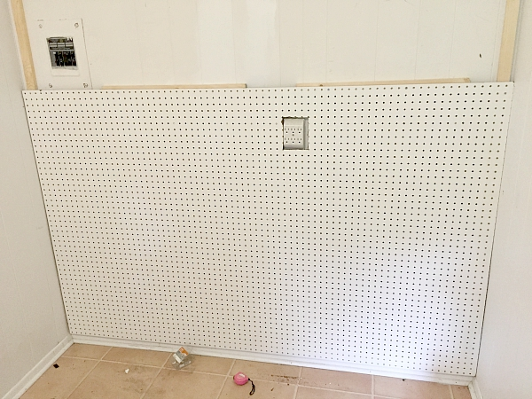 Pegboard Craft Wall