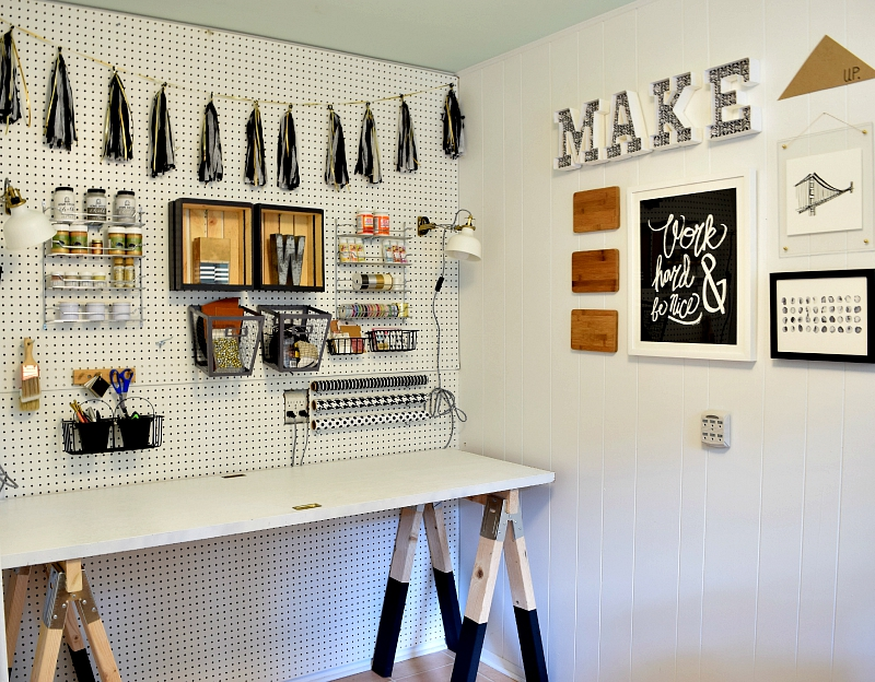 How To Diy A Sawhorse Craft Desk For Only 35