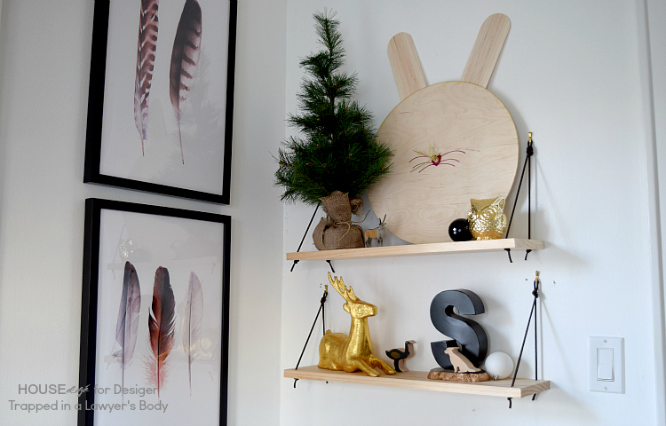 DIY-shelves-with-leather-brackets