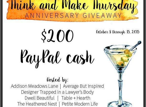 Think & Make #52 Anniversary Giveaway!!!