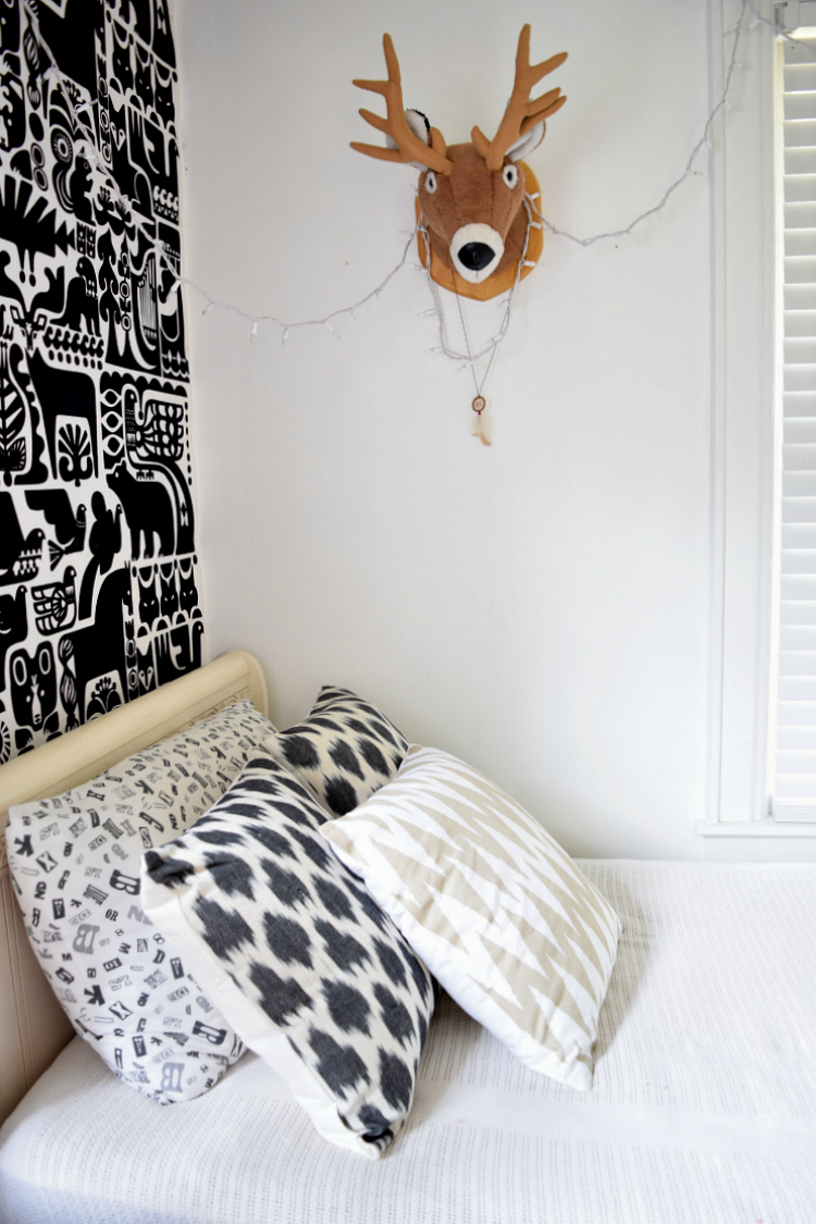 stuffed animal deer head kids bedroom
