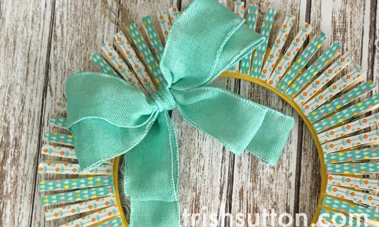 Spring Wreath: Clothespins and Craft Tape
