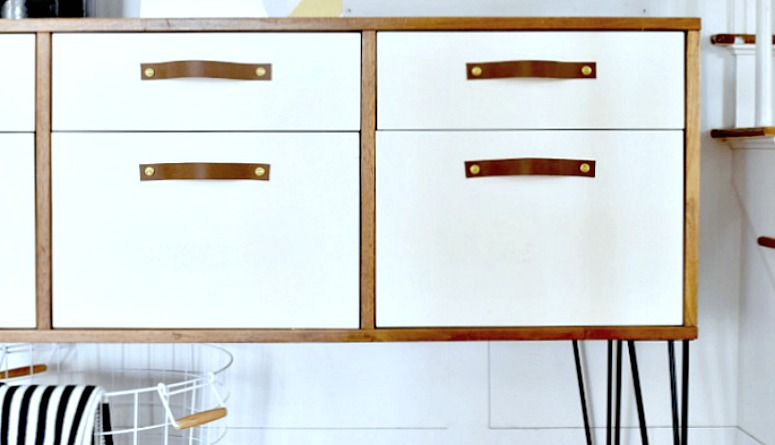 Painted Two Toned Dining Room Credenza