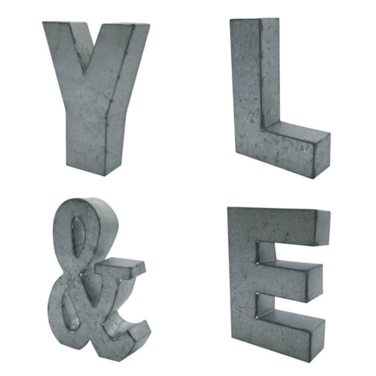 Metal Letters turned to RUSTY letters in a few short steps.
