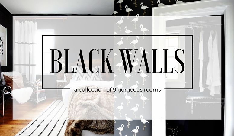9 Rooms with Black Walls