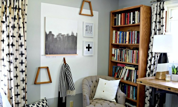 DIY Colorblocked Entryway Makeover