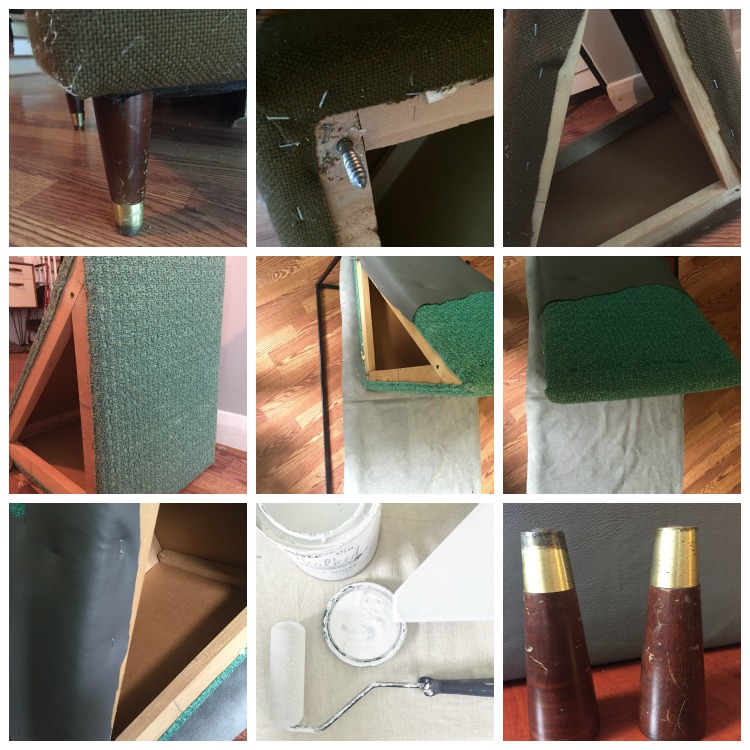How to Reupholster Side tables using leather.