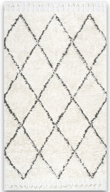 I LOVE this shag rug from RugsUSA. Perfect for a cozy minimal Master Bedroom!