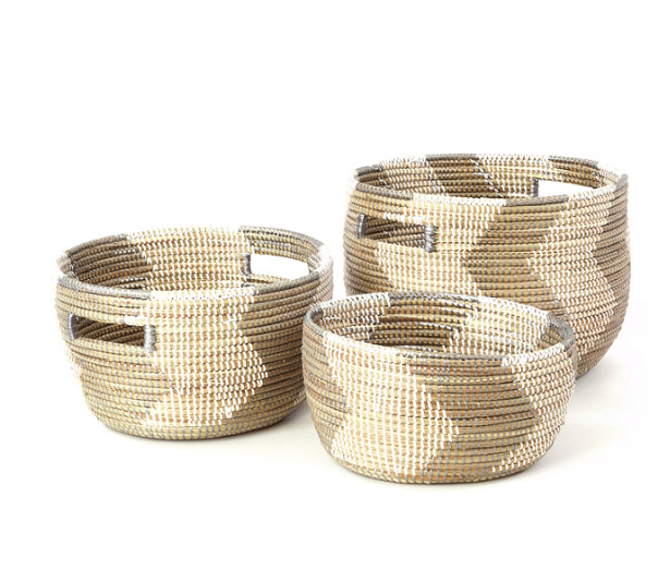 These baskets would add so much texture and storage to any room. Love these!