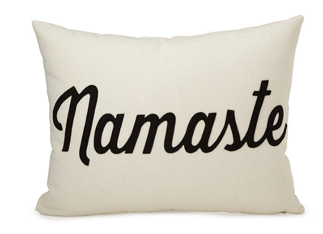 Namaste Pillow, perfect for your bed!