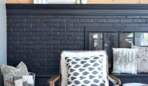 How to Paint Your Brick Fireplace Black