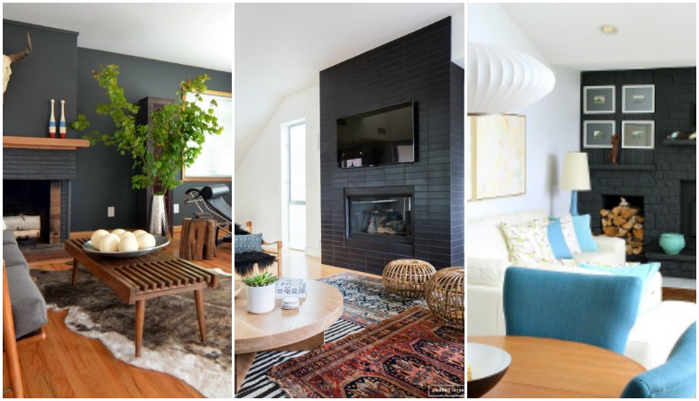 8 Stunning Black Fireplace Makeovers