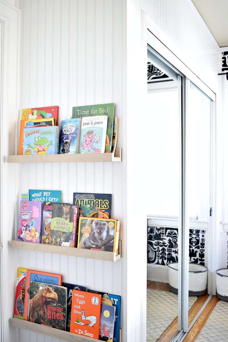 A tutorial to build these SUPER easy DIY book ledges!