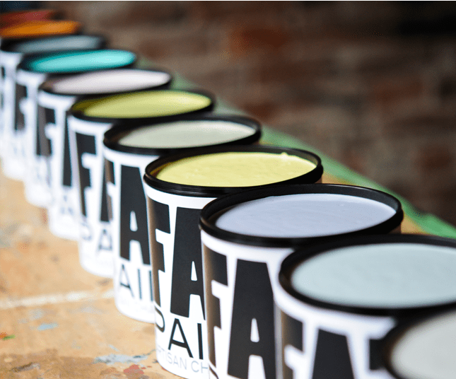 The FAT Paint Co. makes chalk-style paints.