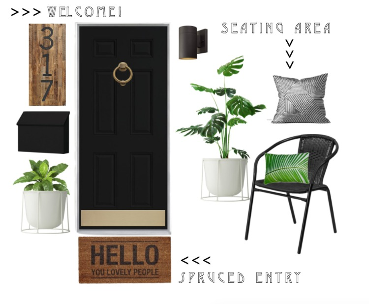 Front Porch Entry Refresh with Wayfair