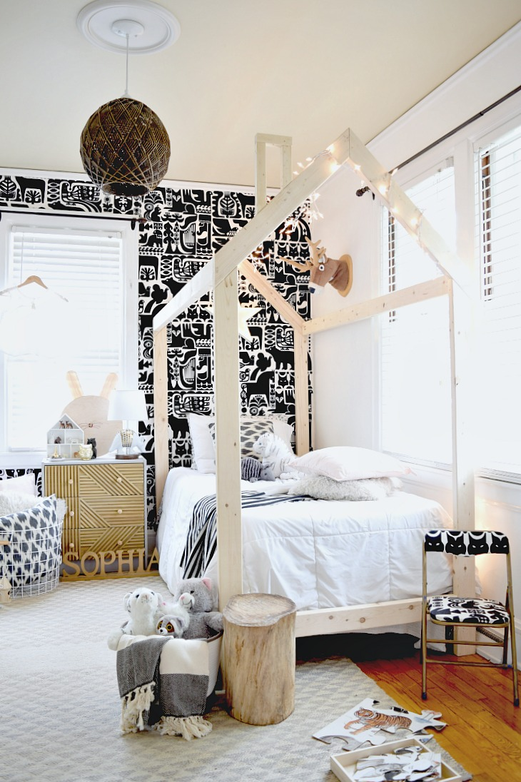 Kids' Neautral Bedroom Makeover - Modern, Scandi and just plain adorable!!