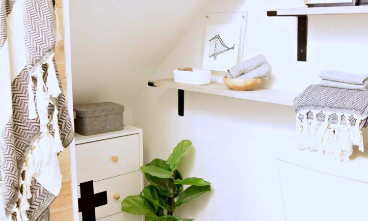 DIY Tiny Bathroom Remodel
