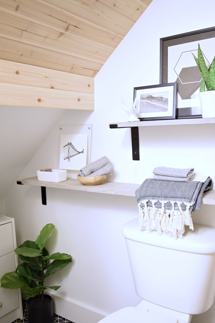 You won't believe this TINY main floor bathroom remodel!