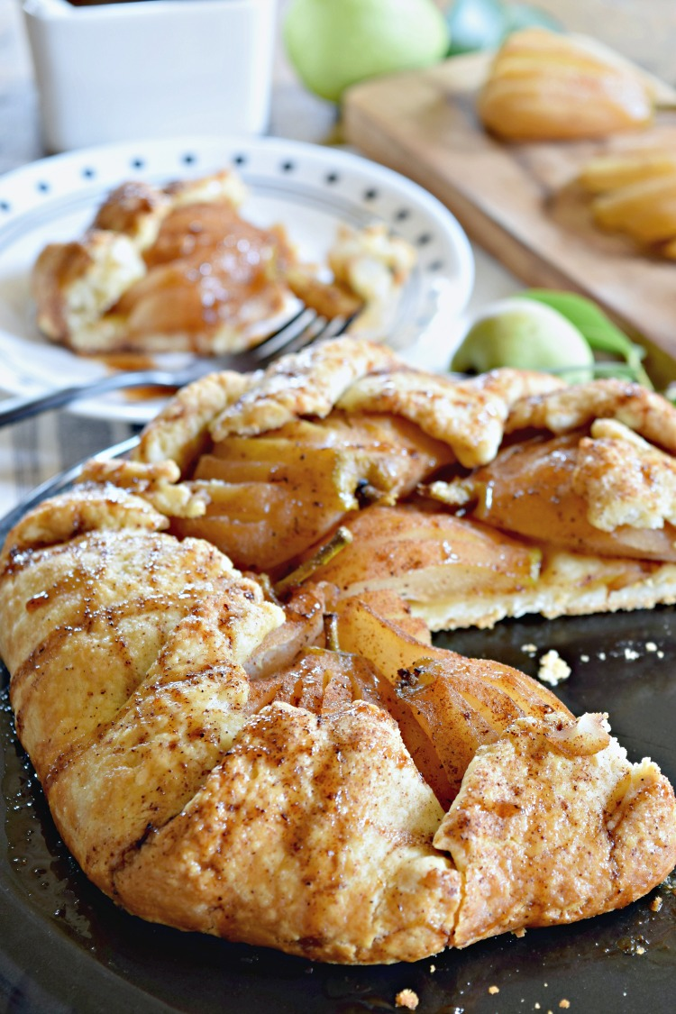 This simple rustic pear galette is the PERFECT dessert for fall get togethers. It's super easy and sure to impress your friends and family.