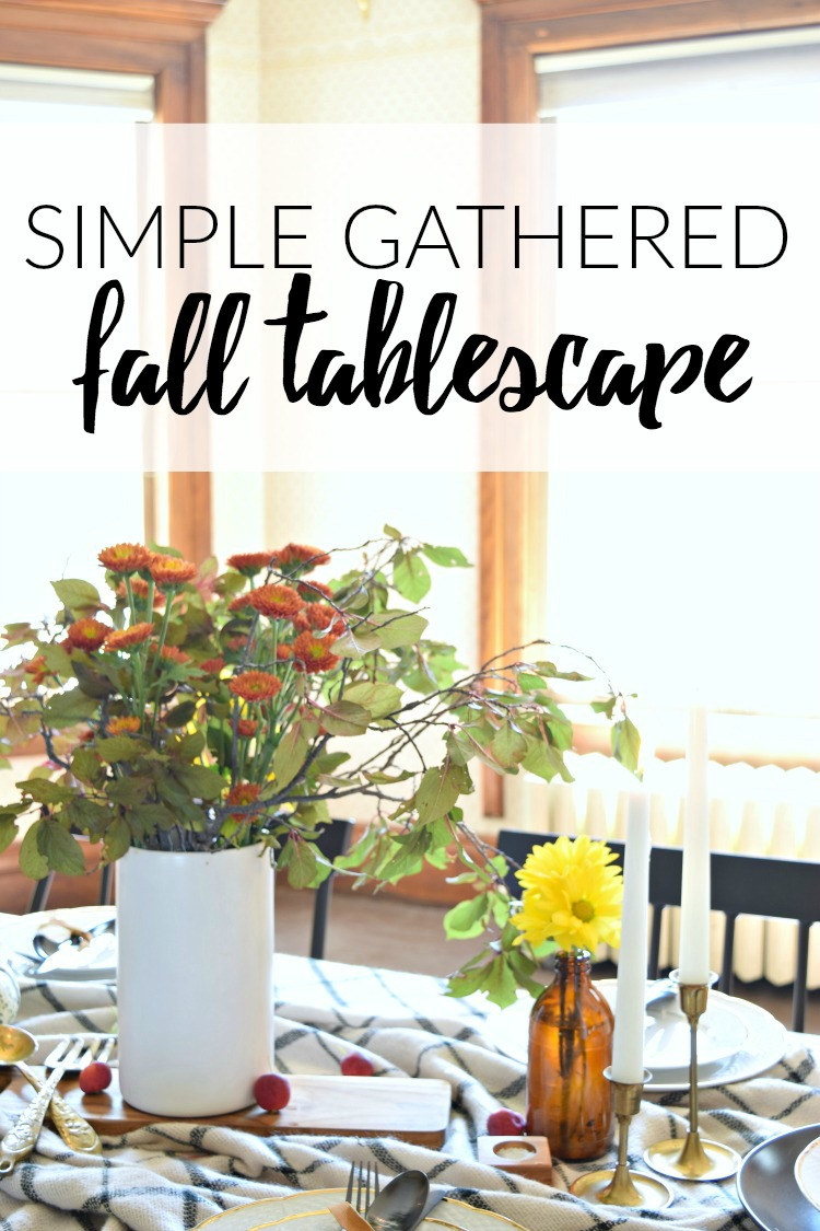 How to create a simple gathered fall tablescape.