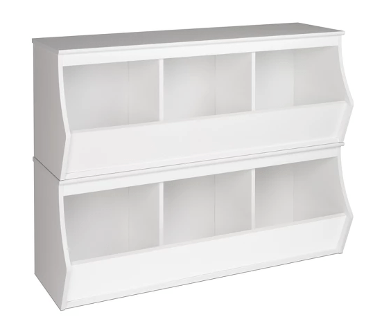 These cubbies are perfect for toy storage organization in your kiddos bedroom!
