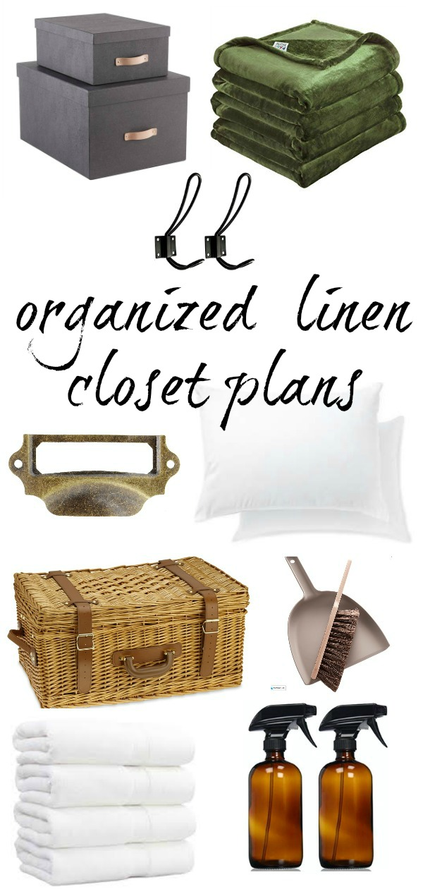 Plans for an organized linen closet makeover.
