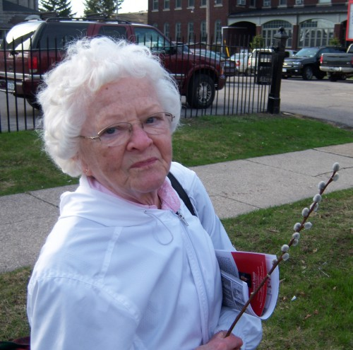 Grandma at Buffalo's Dyngus Day, 2010.