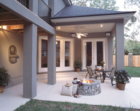 Outdoor Living Trends - House Plans and More on Covered Outdoor Living Area id=76313