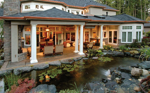 Outdoor Living Trends - House Plans and More on Covered Outdoor Living Area id=74208